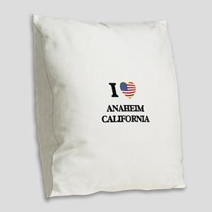 I love Anaheim California USA Burlap Throw Pillow