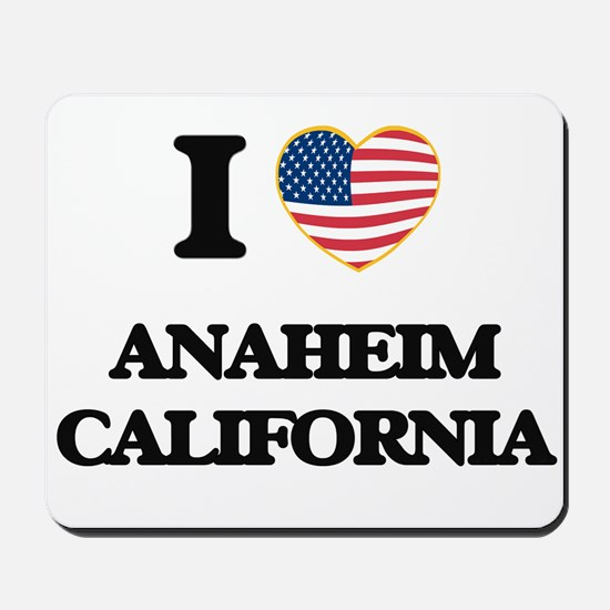 I love Anaheim California USA Design Mousepad