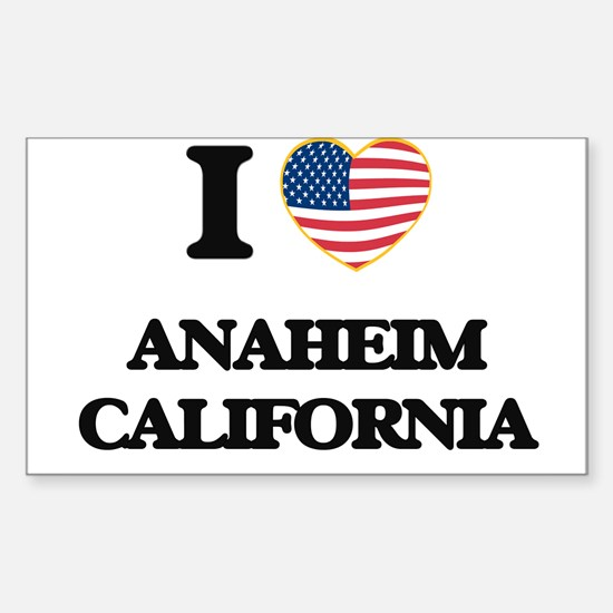 I love Anaheim California USA Design Decal