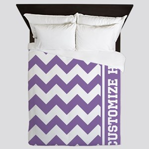 Customized Purple Chevron Pattern Queen Duvet