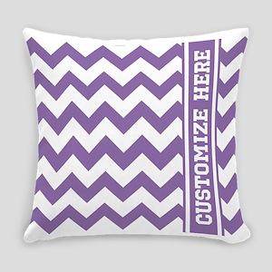 Customized Purple Chevron Pattern Everyday Pillow