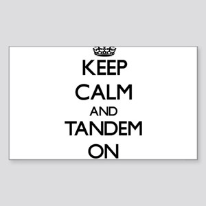 Keep Calm and Tandem ON Sticker