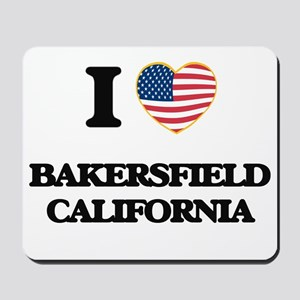 I love Bakersfield California USA Design Mousepad