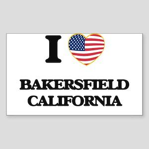 I love Bakersfield California USA Design Sticker