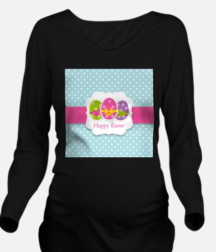 Happy Easter Long Sleeve Maternity T-Shirt