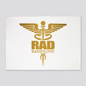 Radiology Gold 5'x7'Area Rug