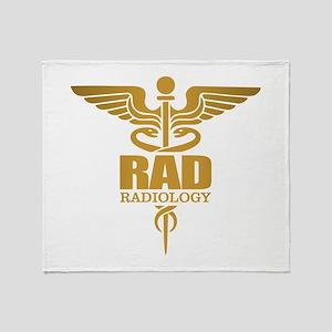 Radiology Gold Throw Blanket