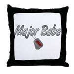 USAF Major Babe ver2  Throw Pillow