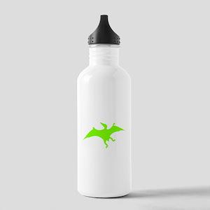Pterodactylus Silhouette (Green) Water Bottle