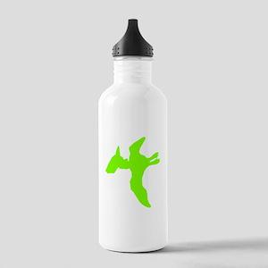 Pterodactyl Silhouette (Green) Water Bottle