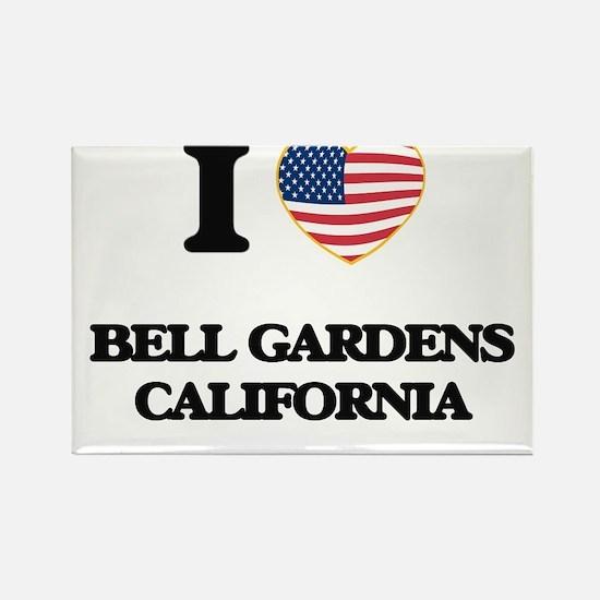 I love Bell Gardens California USA Design Magnets