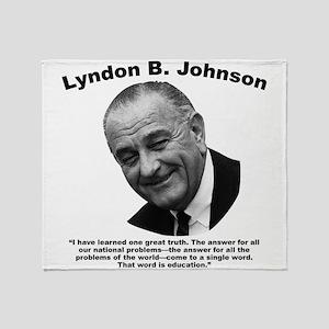 LBJ: Education Throw Blanket