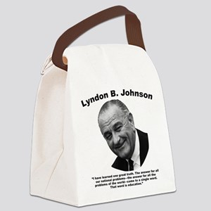 LBJ: Education Canvas Lunch Bag