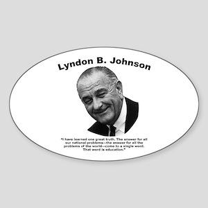 LBJ: Education Sticker (Oval)