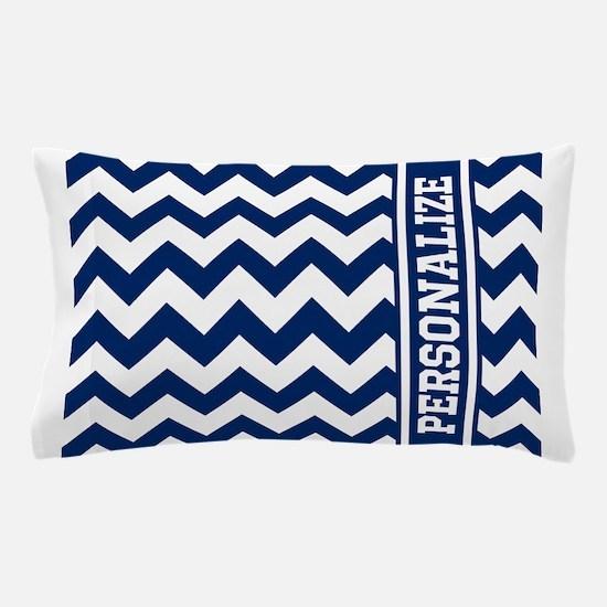 Personalized Blue Chevron Pattern Pillow Case