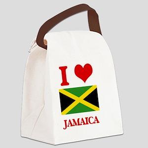 I Love Jamaica Canvas Lunch Bag