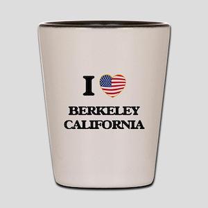 I love Berkeley California USA Design Shot Glass