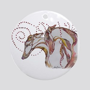 Greyhound Swirls Ornament (Round)