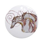 Greyhound Swirls Ornament (Round)