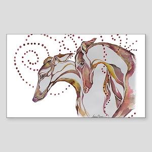 Greyhound Swirls Sticker