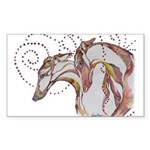 Greyhound Swirls Sticker