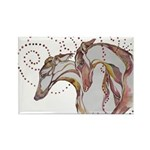 Greyhound Swirls Magnets