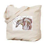 Greyhound Swirls Tote Bag