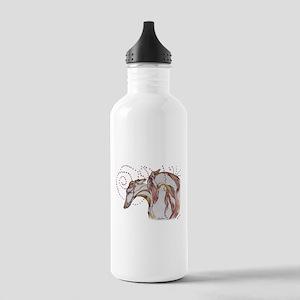 Greyhound Swirls Water Bottle