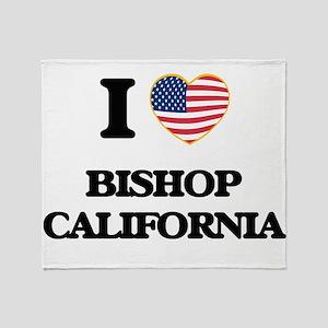 I love Bishop California USA Design Throw Blanket