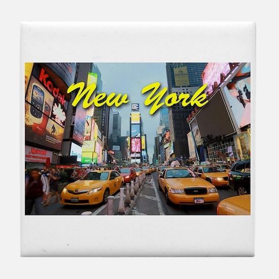 New York City Times Square Pro Photo Tile Coaster