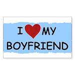i love my boyfriend Rectangle Sticker