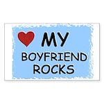 my boyfriend rocks Rectangle Sticker