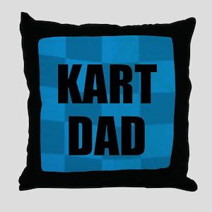 Kart Dad Throw Pillow