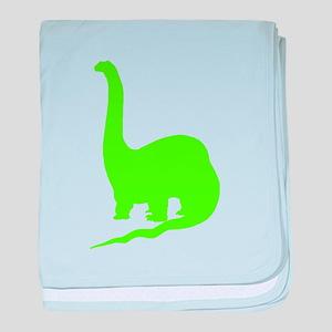Brachiosaurus Silhouette (Green) baby blanket