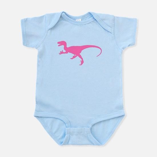Velociraptor Silhouette (Pink) Body Suit
