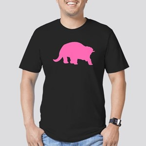 Triceratops Silhouette (Pink) T-Shirt