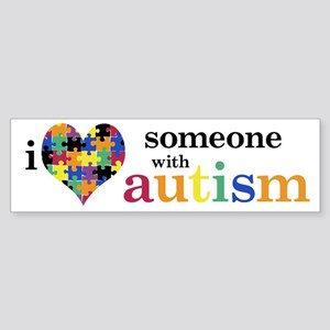 I HEART Someone with Autism - Bumper Sticker
