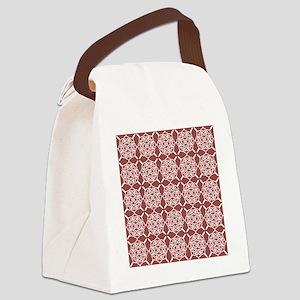 Marsala Doily Canvas Lunch Bag