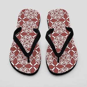 Marsala Doily Flip Flops