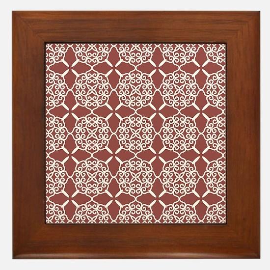 Marsala Doily Framed Tile