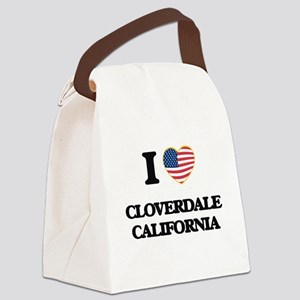 I love Cloverdale California USA Canvas Lunch Bag