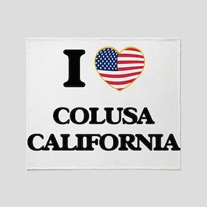 I love Colusa California USA Design Throw Blanket
