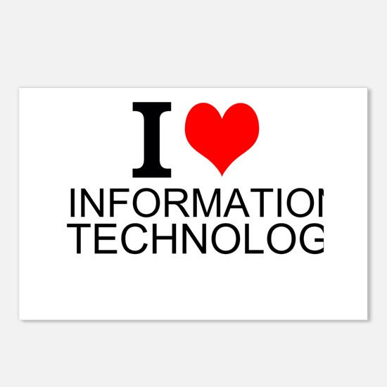 I Love Information Technology Postcards (Package o