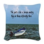 The Past Woven Throw Pillow