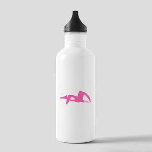 Pterodactyl Silhouette (Pink) Water Bottle