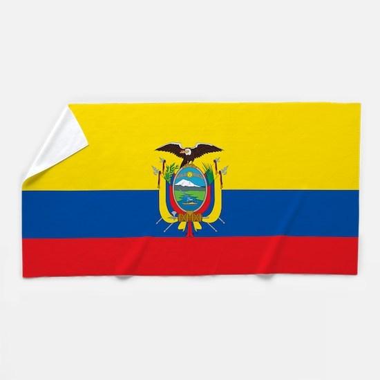 Flag of Ecuador Beach Towel