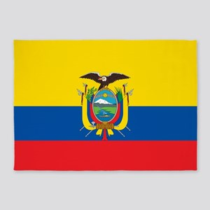 Flag Of Ecuador 5'x7'area Rug