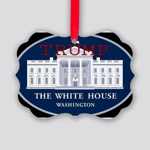 TRUMP WHITE HOUSE Picture Ornament