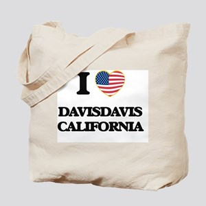 I love Davisdavis California USA Design Tote Bag