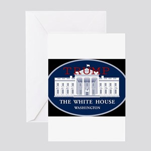 TRUMP WHITE HOUSE Greeting Cards